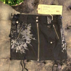 *NWT*Da-Nang Black Zip Skirt Size XS